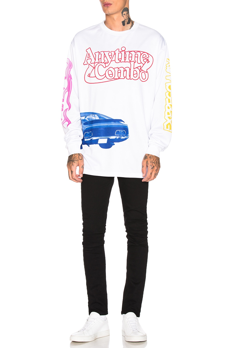 Image 5 of Calvin Klein Est. 1978 Graphic Long Sleeve Tee in White & Multi