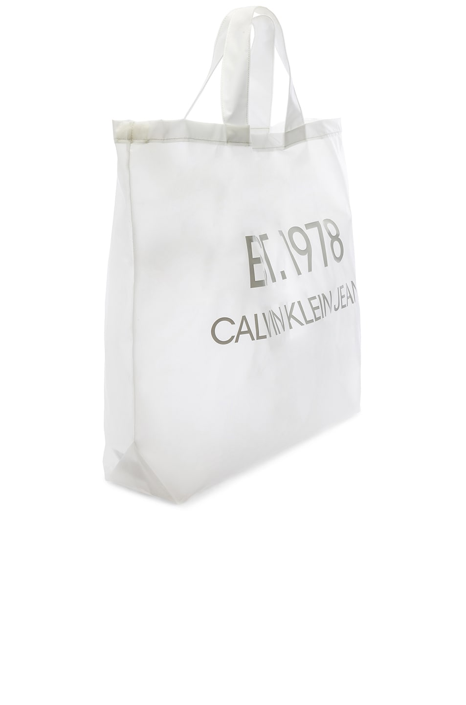 Image 4 of Calvin Klein Est. 1978 Logo Big Tote in Transparent