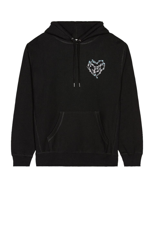 Image 1 of CHRISTIAN COWAN x Lil Nas Heart Sweatshirt in Black 1