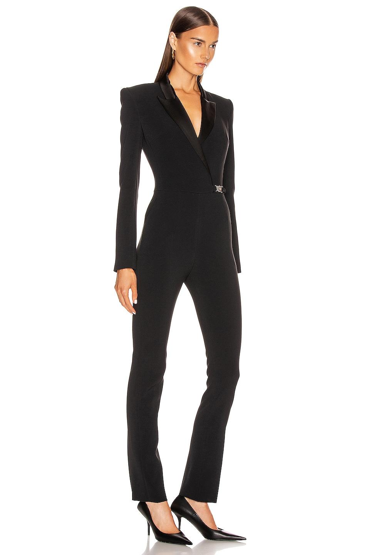 Image 2 of David Koma Tuxedo Tailored Jumpsuit in Black