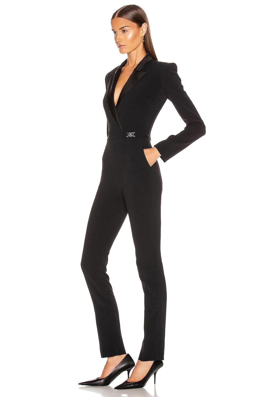 Image 3 of David Koma Tuxedo Tailored Jumpsuit in Black