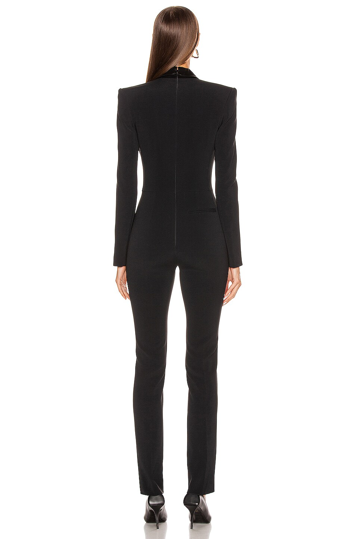 Image 4 of David Koma Tuxedo Tailored Jumpsuit in Black