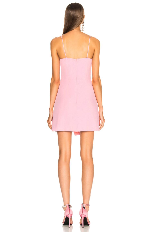 Image 4 of David Koma Asymmetrical Mini Dress in Pink & Silver