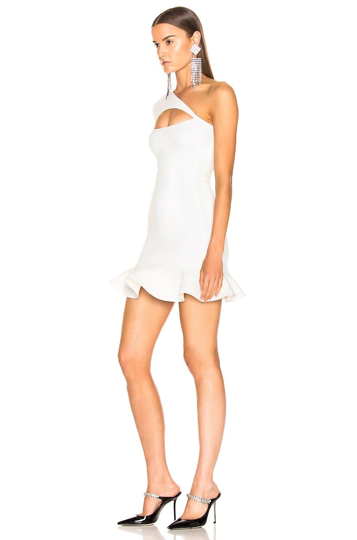 Image 3 of David Koma One Shoulder Mini Dress in White