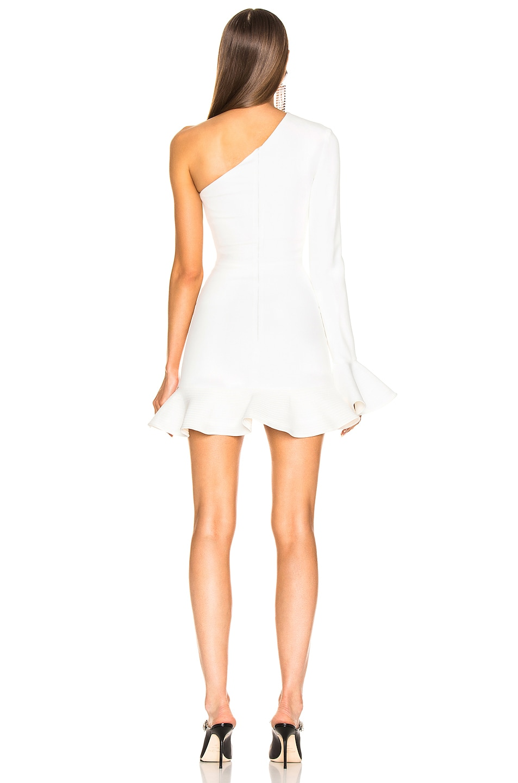 Image 4 of David Koma One Shoulder Mini Dress in White