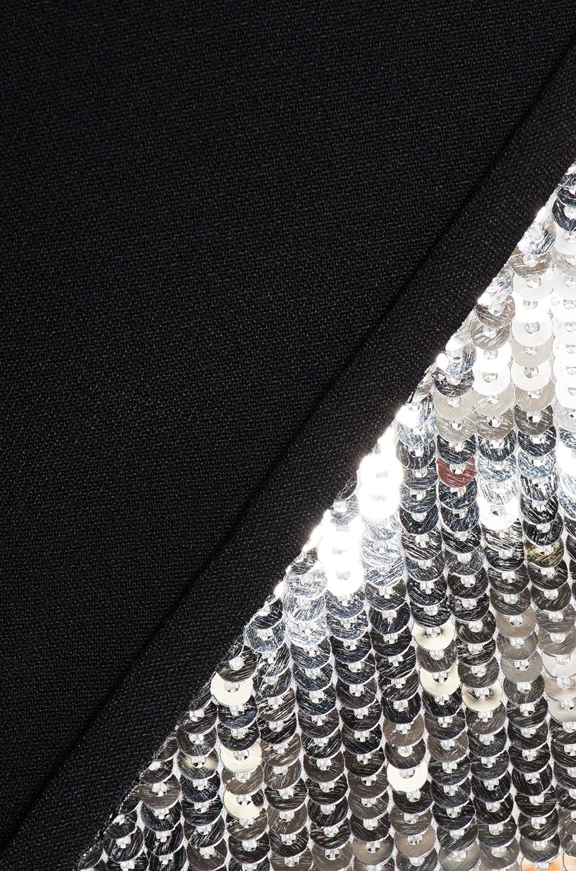 Image 5 of David Koma Cutout Sequin Mini Dress in Black & Silver