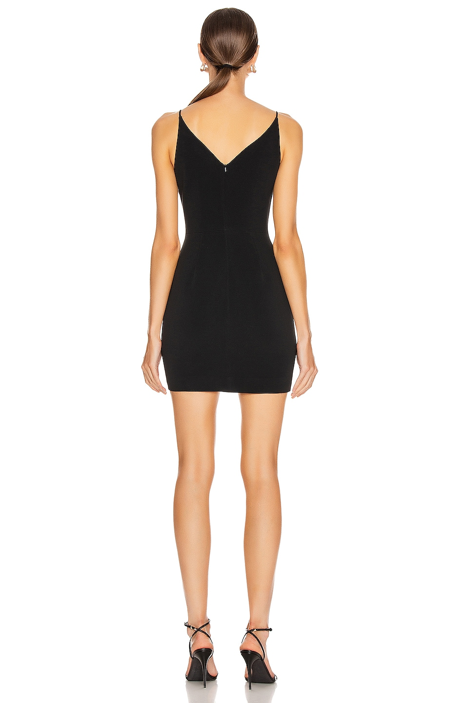 Image 3 of David Koma Embroidered Butterfly Mini Dress in Black & Silver
