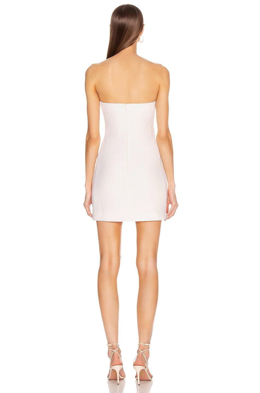 Image 4 of David Koma Tuxedo Tailored Strapless Mini Dress in White