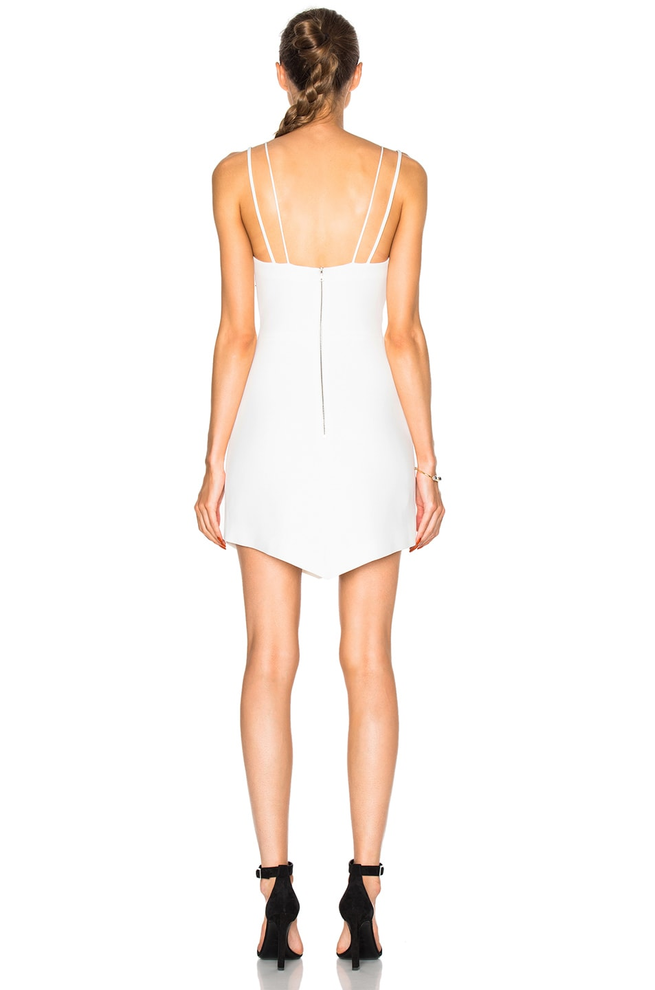 Image 4 of David Koma Metal Neckline Mini Dress in White