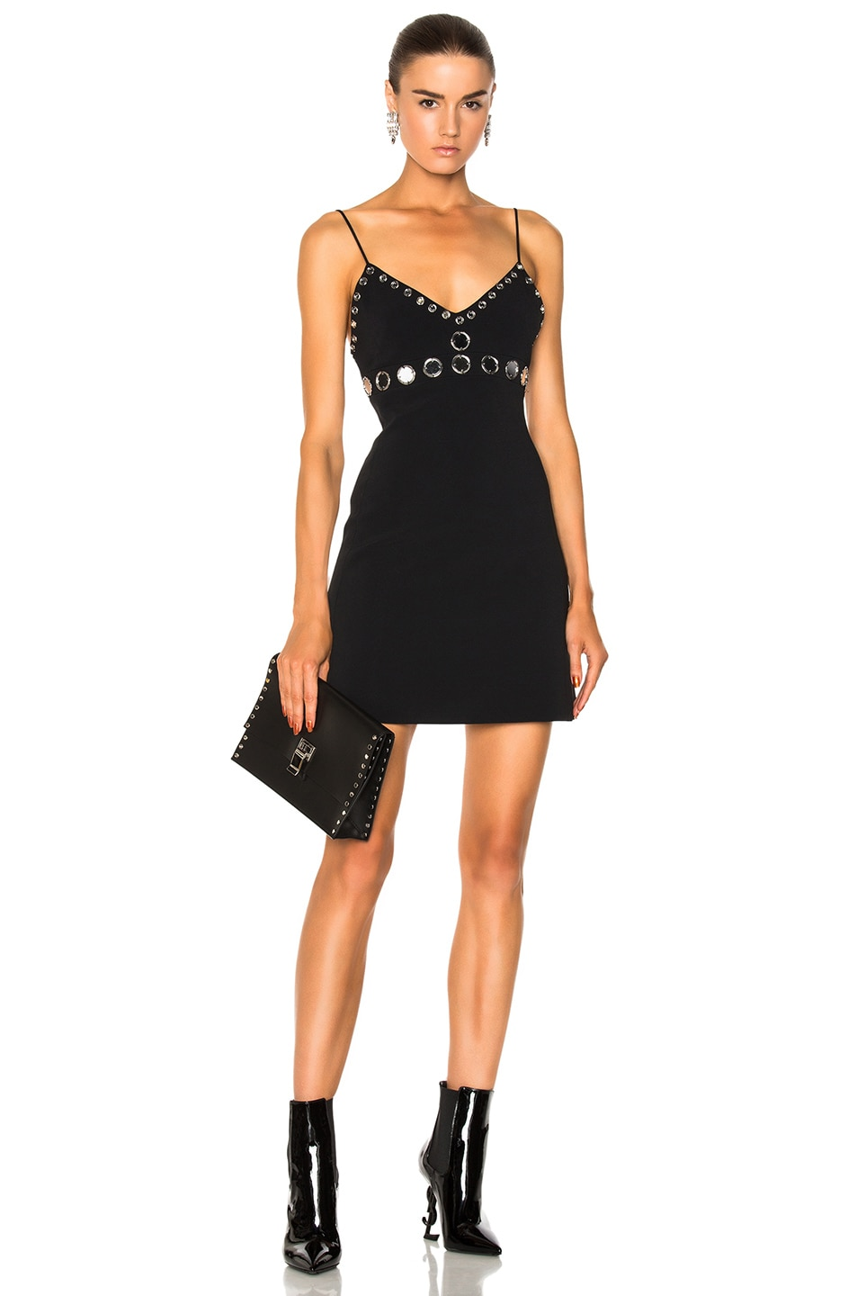 Factory Outlet Cheap Online embellished mini dress - Black DAVID KOMA Visit New Outlet 2018 New With Paypal Sale Online xNMkN6