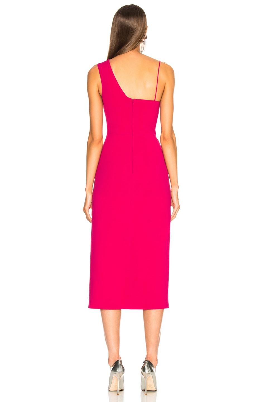 Image 4 of David Koma Side Slit Midi Dress in Fuchsia & Silver