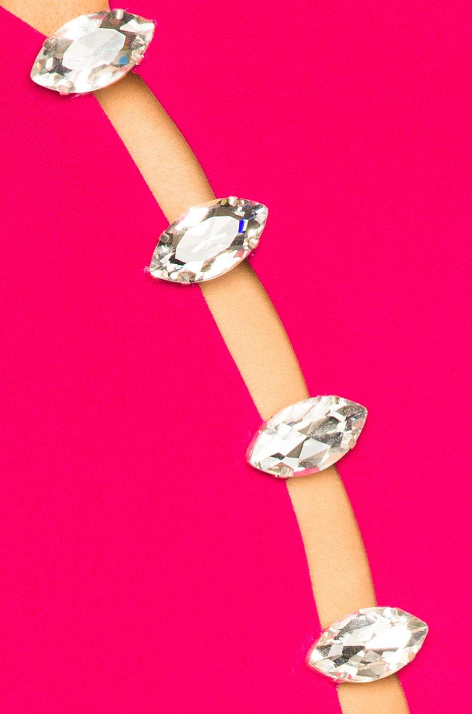 Image 5 of David Koma Side Slit Midi Dress in Fuchsia & Silver