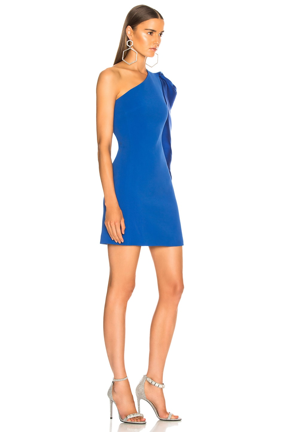 Image 2 of David Koma Gigot Sleeve Mini Dress in Blue
