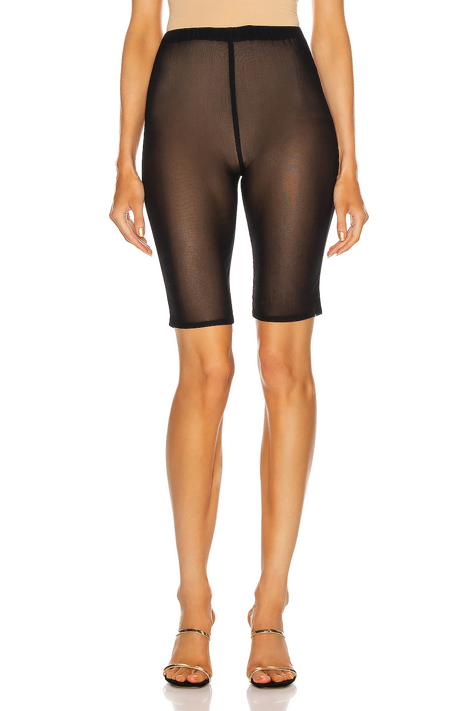 Image 1 of David Koma Net Biker Short in Black