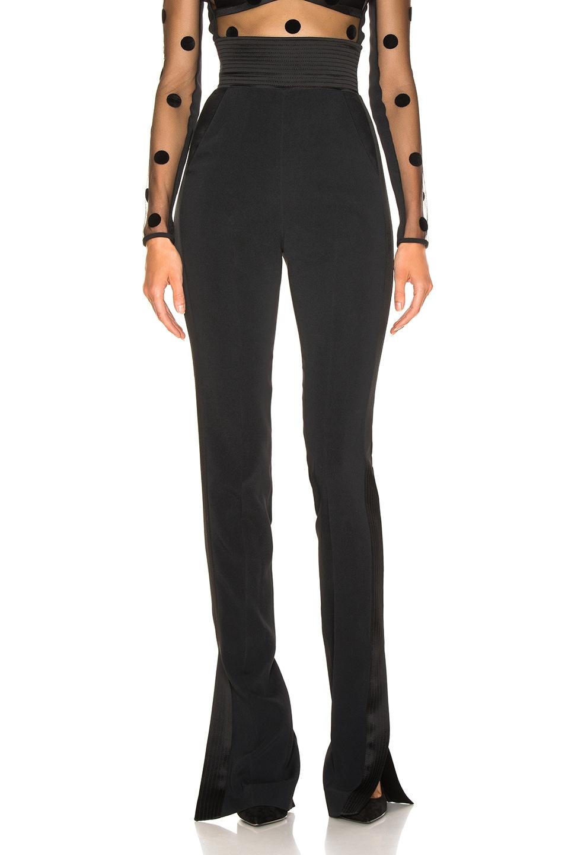 Image 2 of David Koma Side Panel Trouser Pant in Black