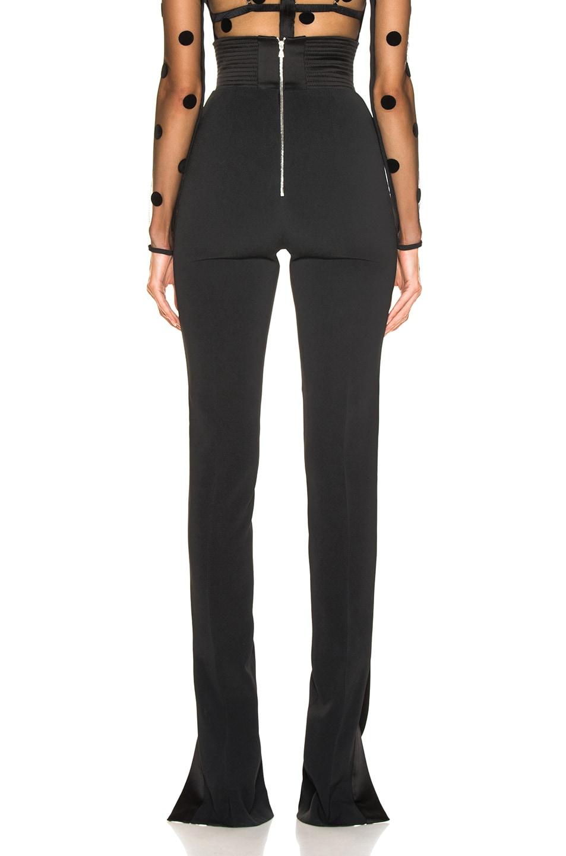 Image 4 of David Koma Side Panel Trouser Pant in Black