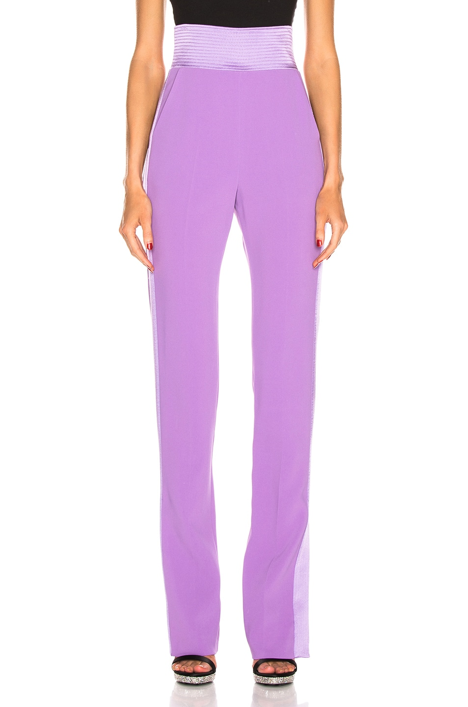 Image 1 of David Koma Side Panel Trouser Pant in Lavender