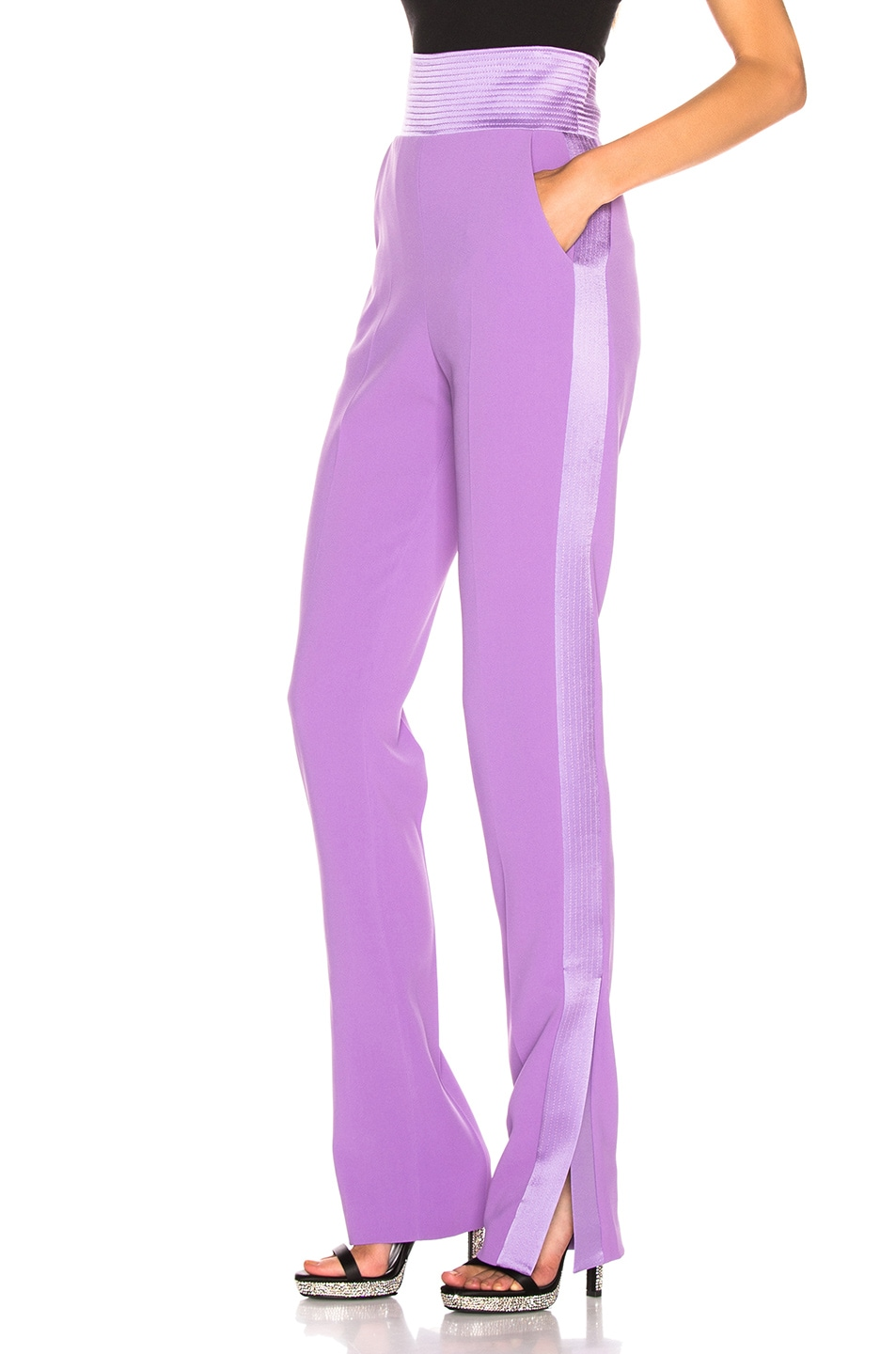 Image 2 of David Koma Side Panel Trouser Pant in Lavender