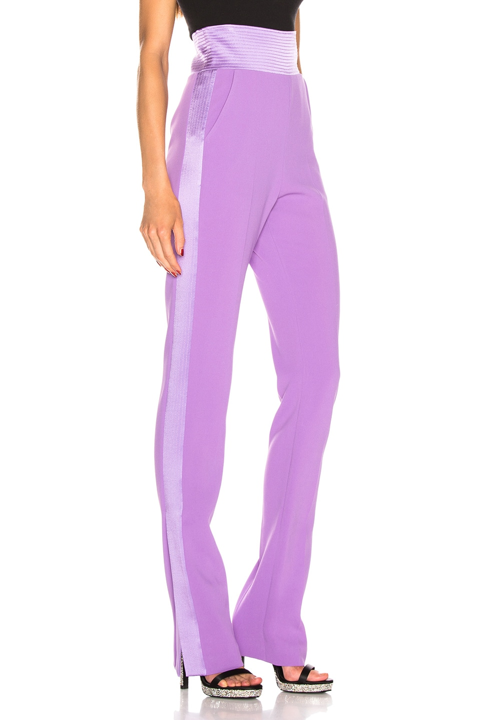 Image 3 of David Koma Side Panel Trouser Pant in Lavender