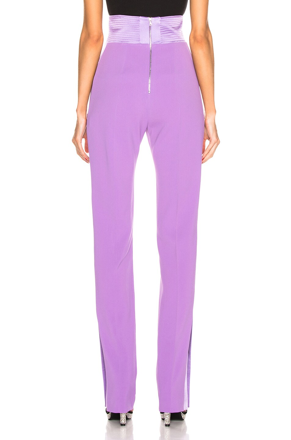 Image 4 of David Koma Side Panel Trouser Pant in Lavender