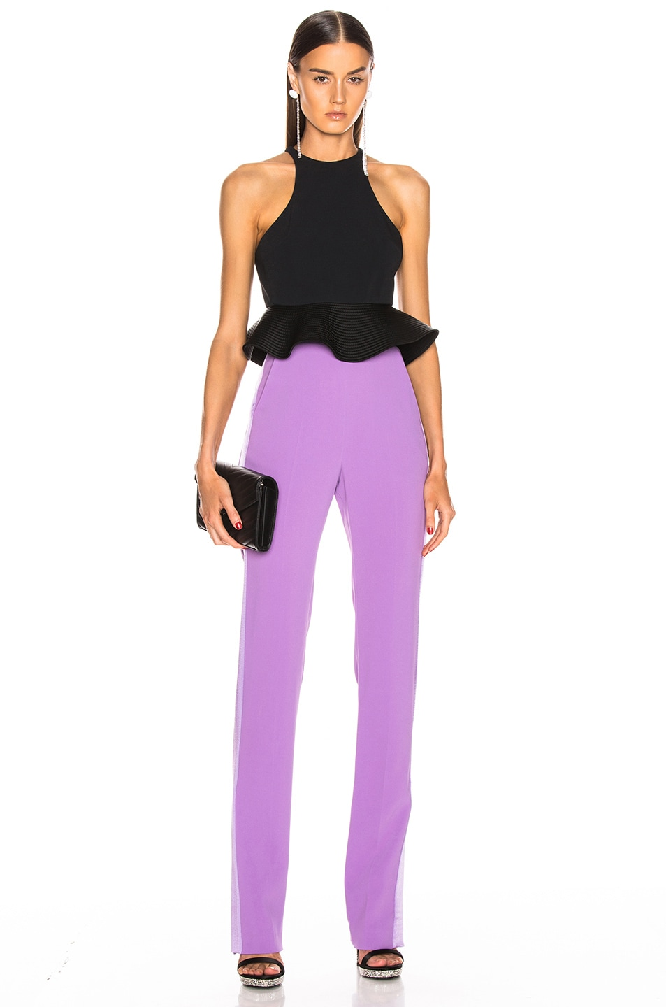 Image 5 of David Koma Side Panel Trouser Pant in Lavender