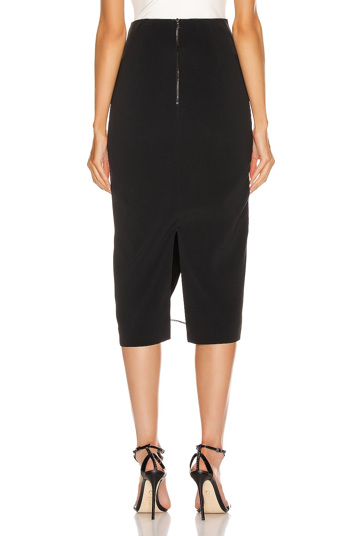 Image 4 of David Koma Asymmetrical Pencil Skirt in Black