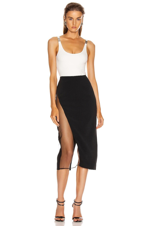 Image 5 of David Koma Asymmetrical Pencil Skirt in Black