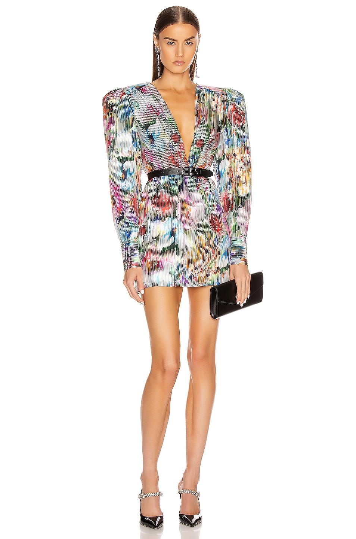 Image 1 of Daniele Carlotta Mini Dress in Flowers