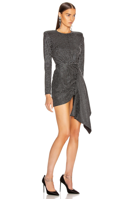 Image 2 of Daniele Carlotta Mini Dress in Black & Silver