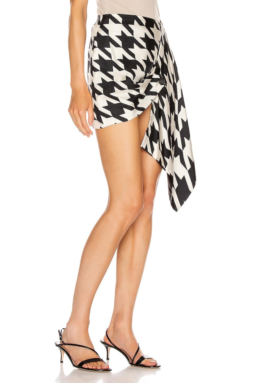 Image 2 of Daniele Carlotta Asymmetric Skirt in Black & White
