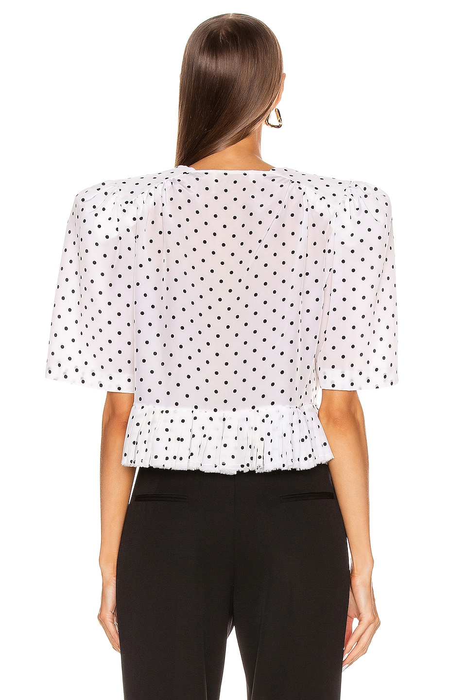 Image 3 of Daniele Carlotta V Neck Blouse in Polka Dots