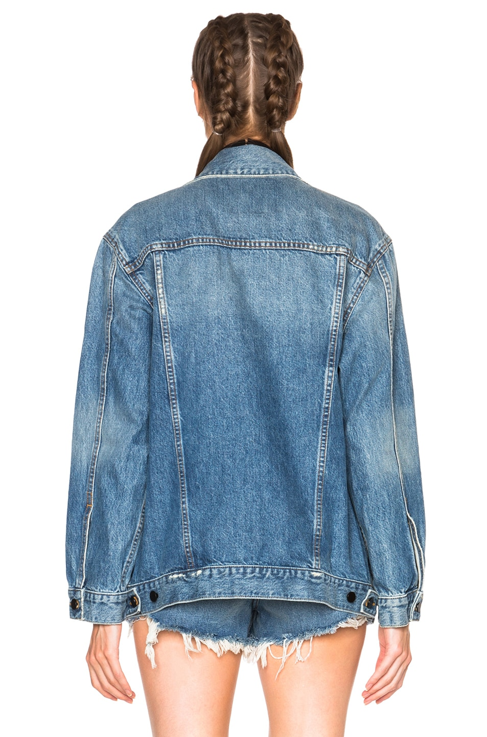 Image 4 of Alexander Wang Daze Oversized Jacket in Light Indigo Aged