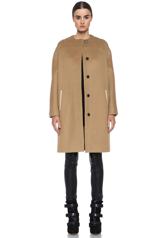 Image 1 of Derek Lam Doubleface Wool Drop Shoulder Coat in Camel
