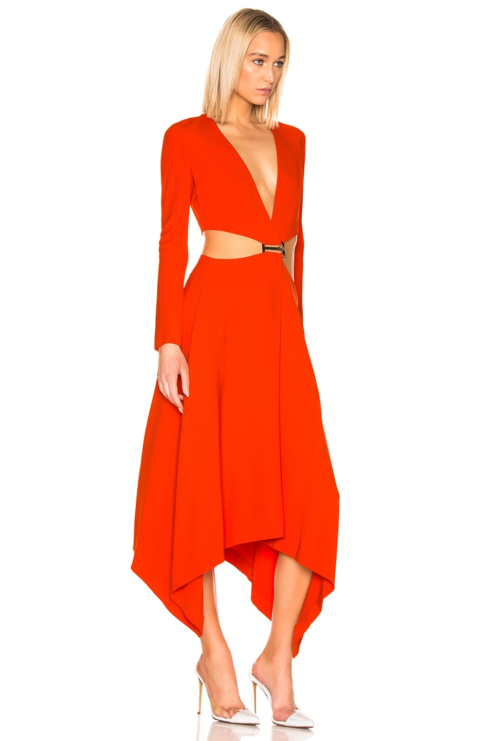 Image 2 of Dion Lee Modular Dress in Vermillion