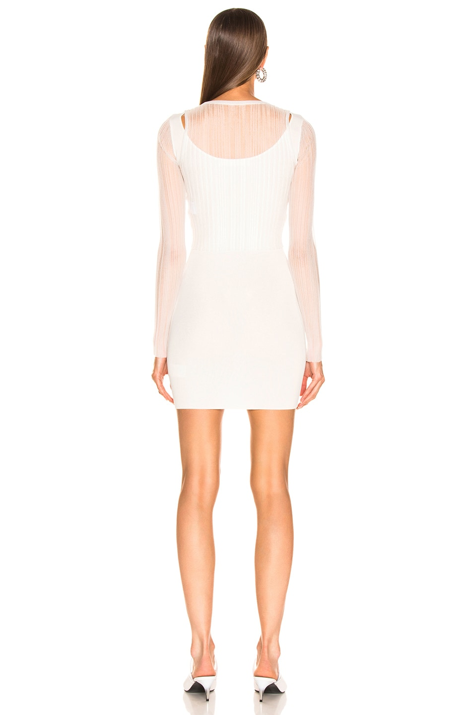 Image 5 of Dion Lee Shadow Pleat Mini Dress in Ivory