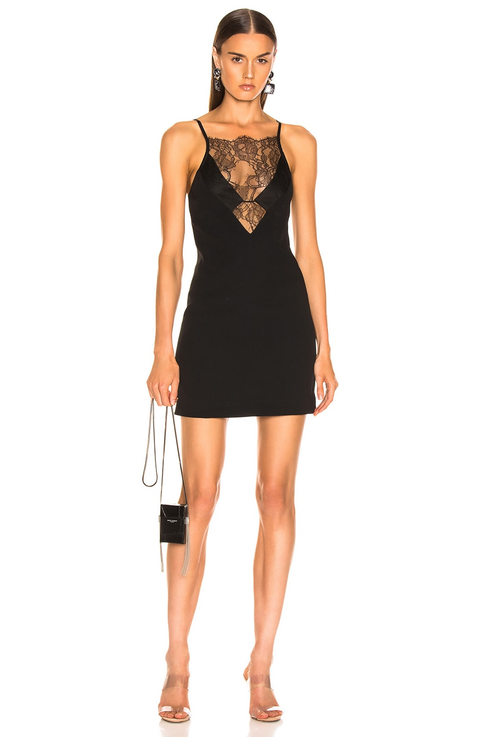 Image 1 of Dion Lee Stencil Lace Mini Dress in Black