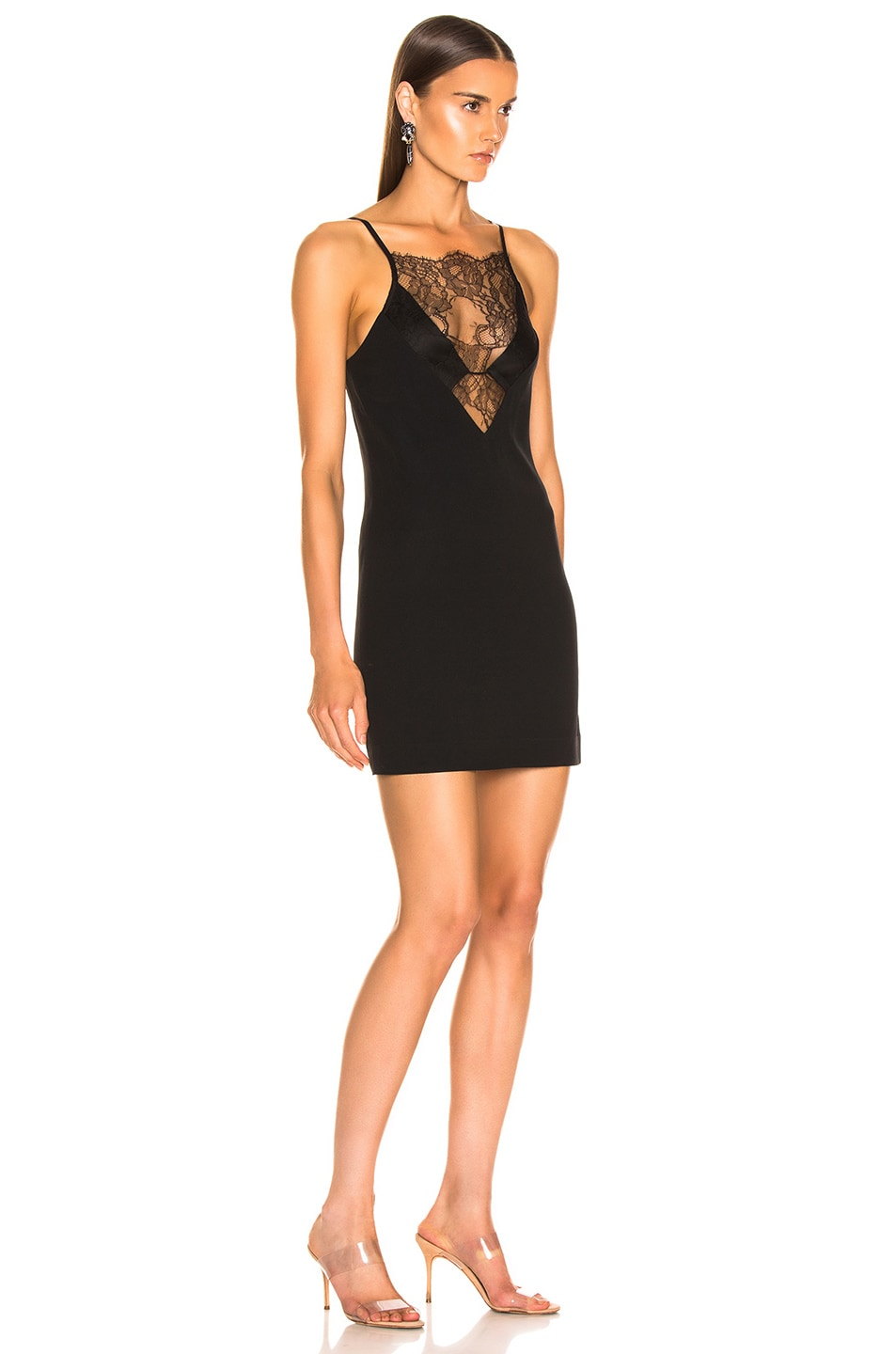 Image 2 of Dion Lee Stencil Lace Mini Dress in Black