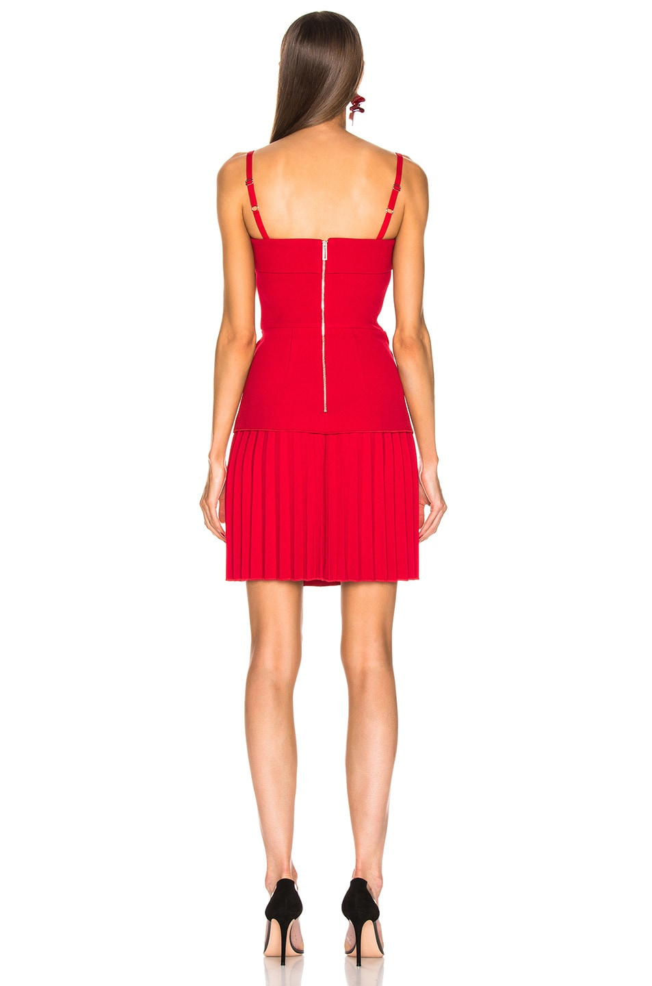 Image 3 of Dion Lee Linear Pleat Mini Dress in Cherry