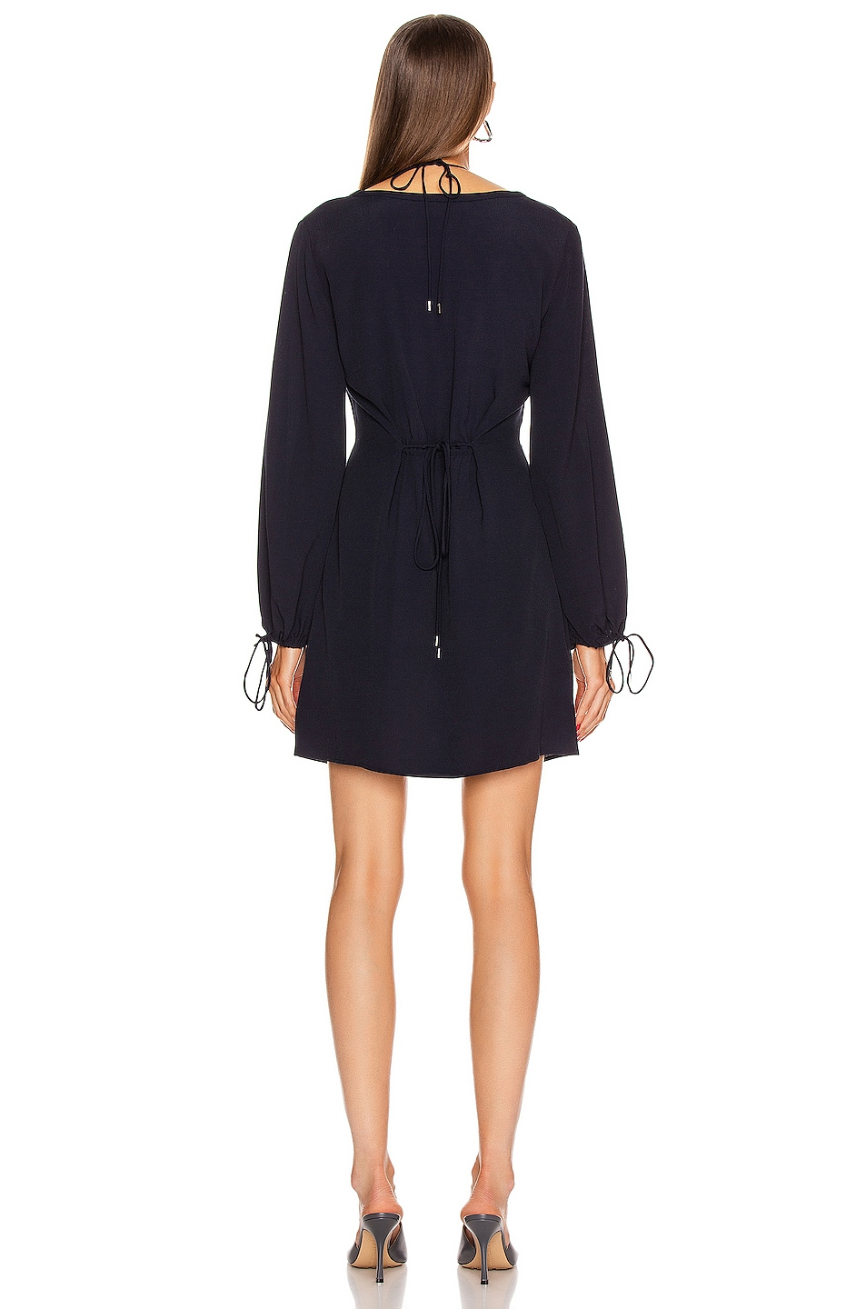 Image 3 of Dion Lee Twist Placket Tunic Dress in Ink