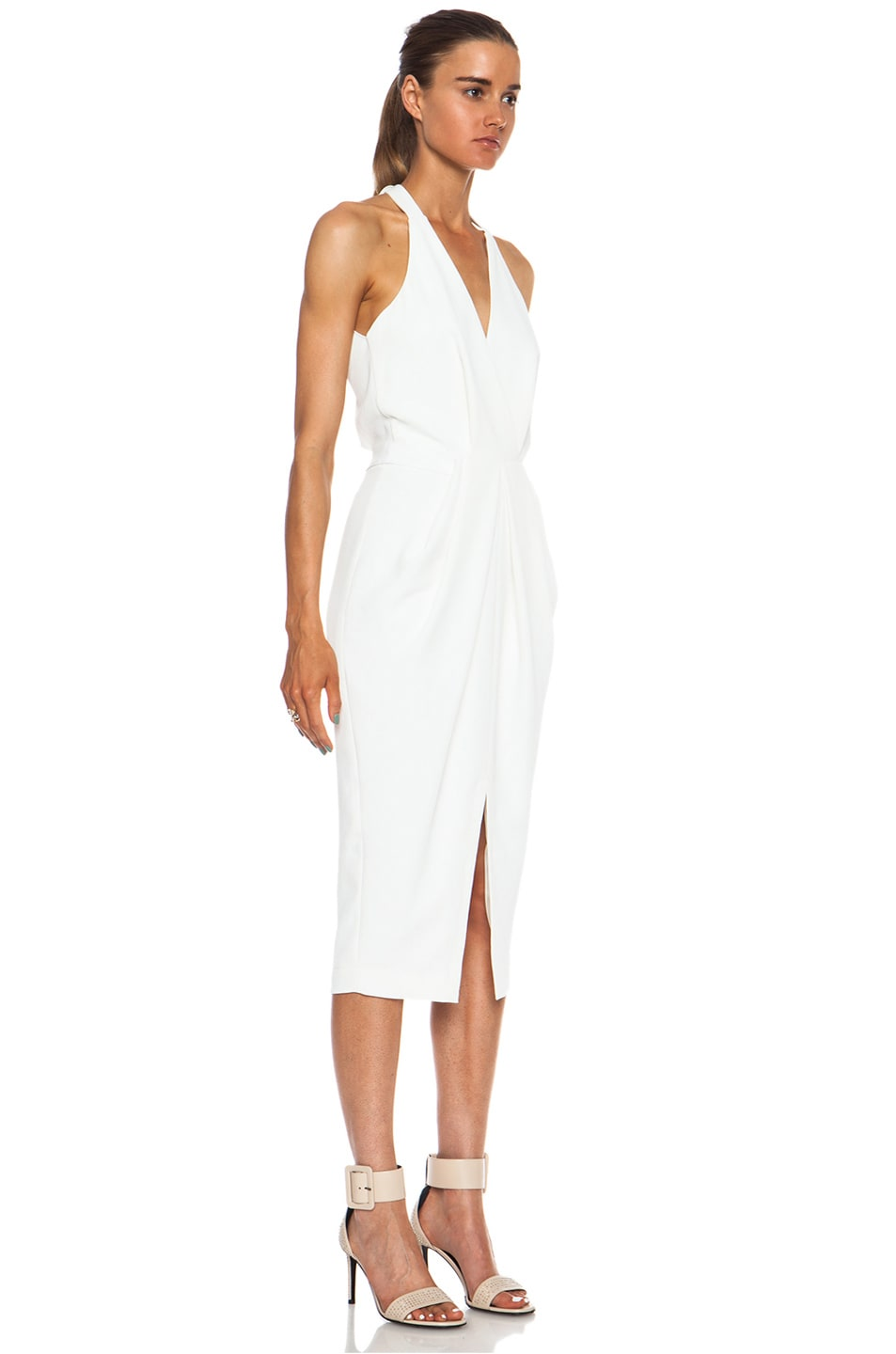 whitewash drape dress Dion Lee hUEsM4Ae