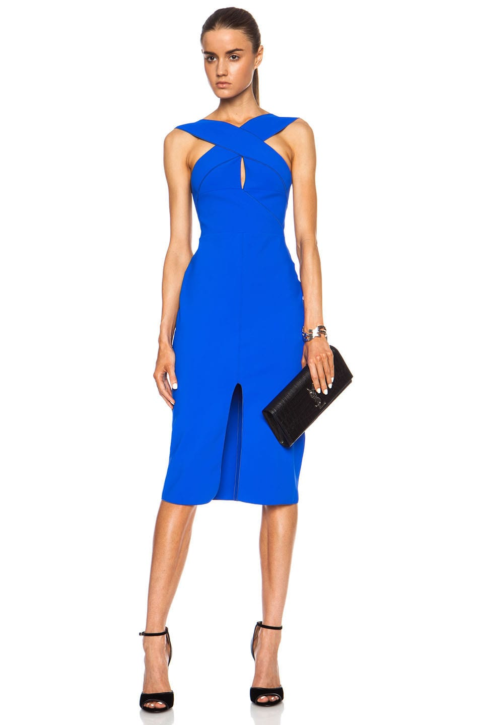 Image 1 Of Dion Lee Cutaway Woven Nylon Blend Dress In Marine