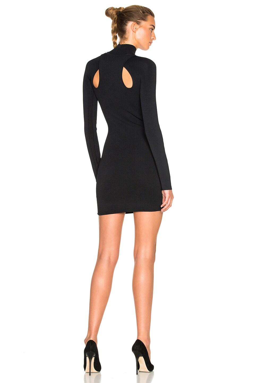 Image 1 of Dion Lee Density Knit Loop Lock Mini Dress in Black