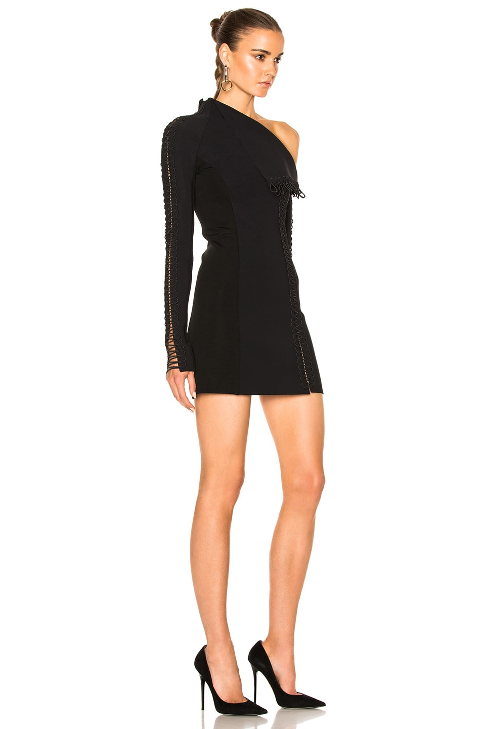 Image 3 of Dion Lee Corded Elastic Laced Dress in Black