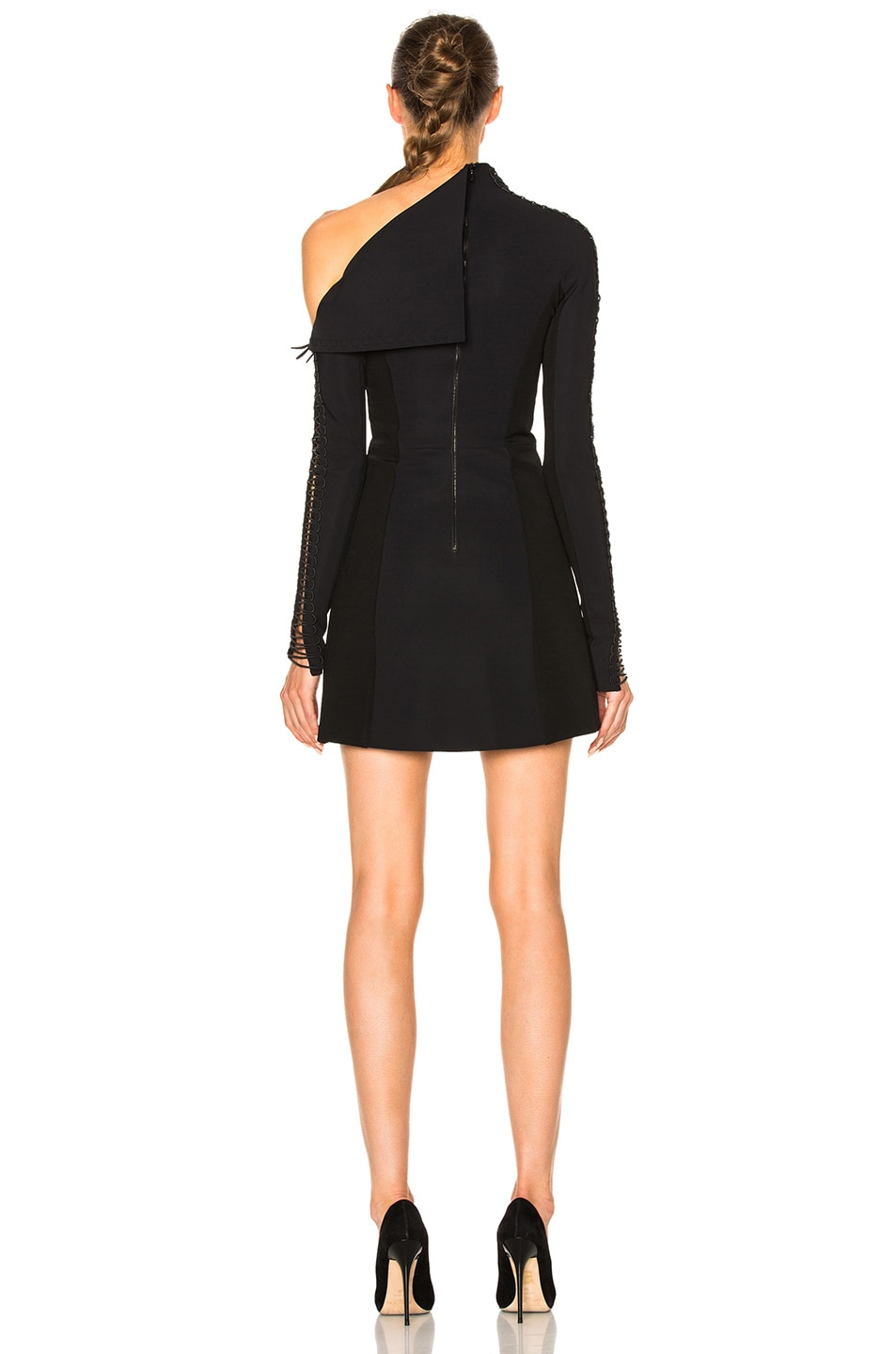 Image 4 of Dion Lee Corded Elastic Laced Dress in Black