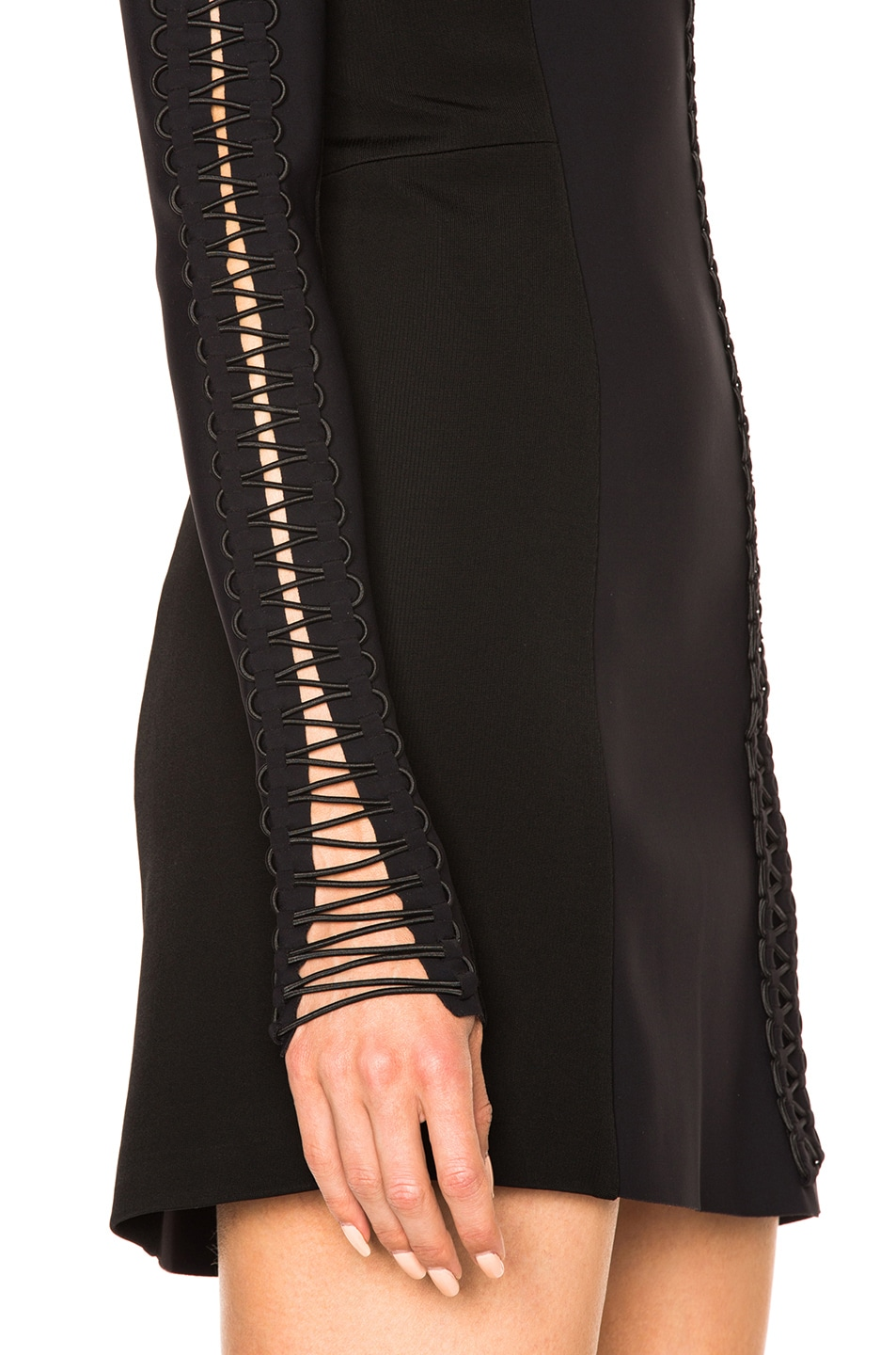 Image 5 of Dion Lee Corded Elastic Laced Dress in Black