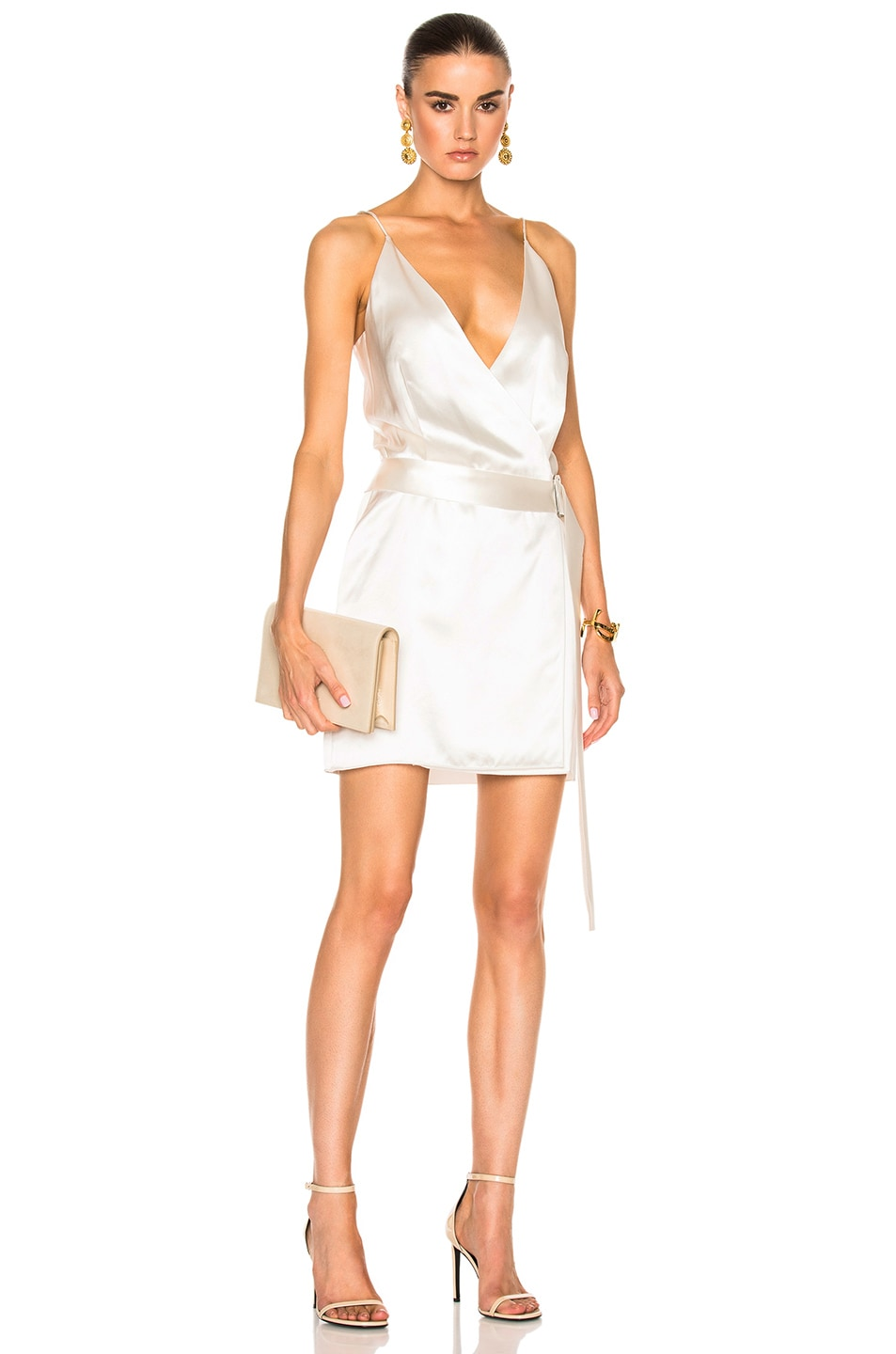 6b609c23d9 Image 1 of Dion Lee Contour Tie Tunic Dress in Ivory