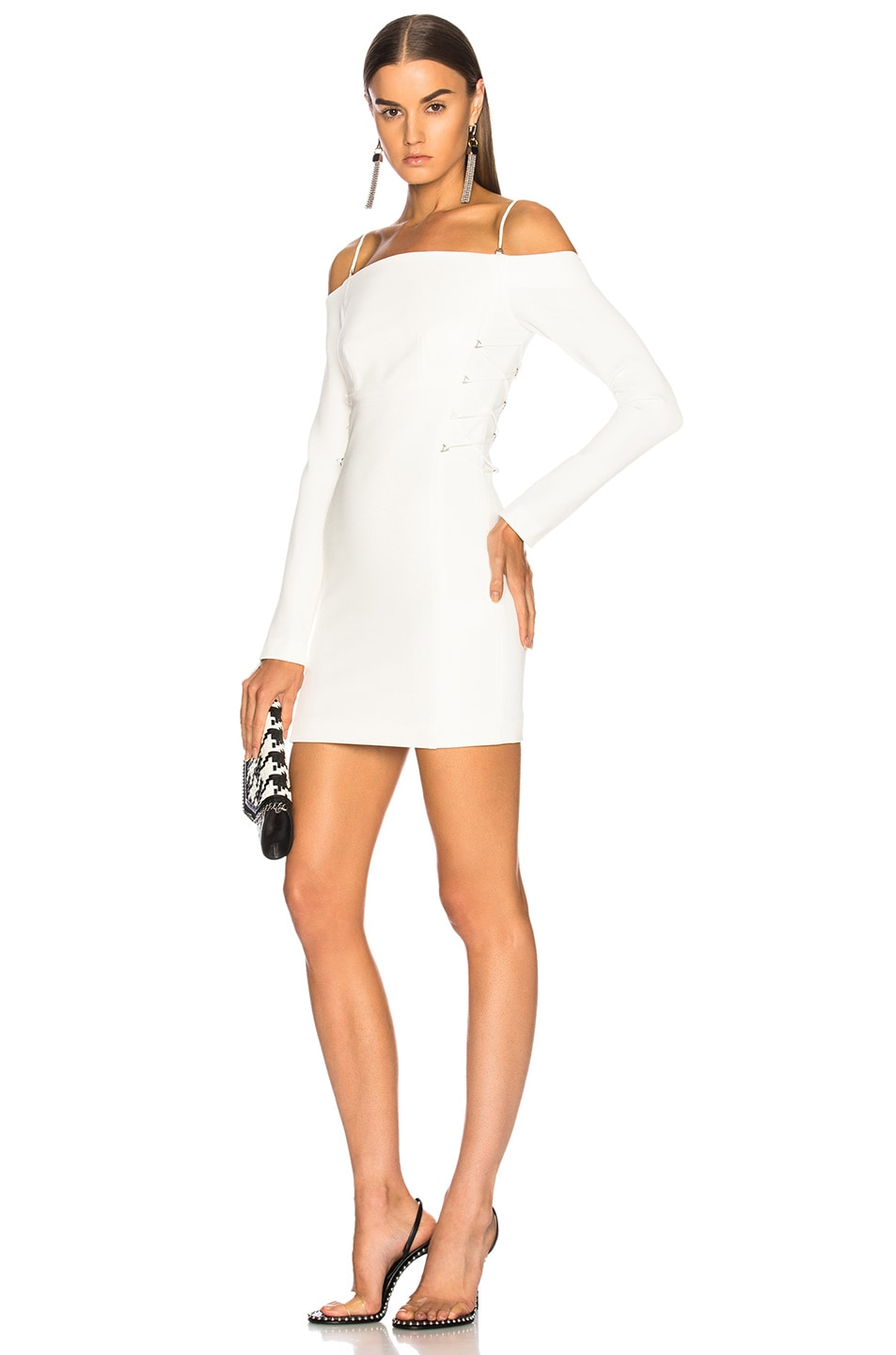 36c518fe23 Image 1 of Dion Lee Long Sleeve Mini Dress in White