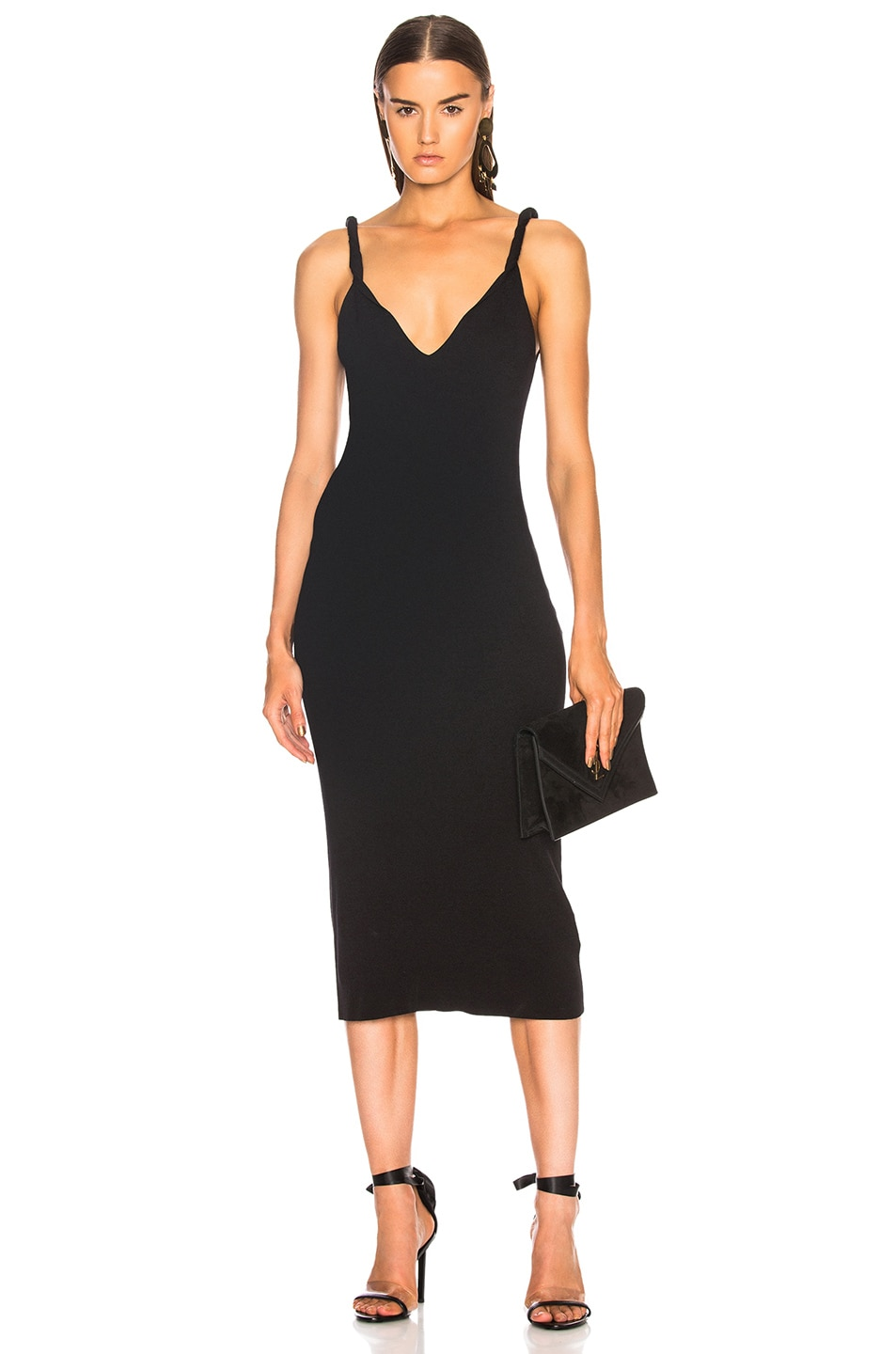 Clearance Outlet Store Twist Shoulder Dress in Black Dion Lee Clearance Cheap Sneakernews Sale Online Free Shipping Prices Deals Cheap Price HKx6pklW