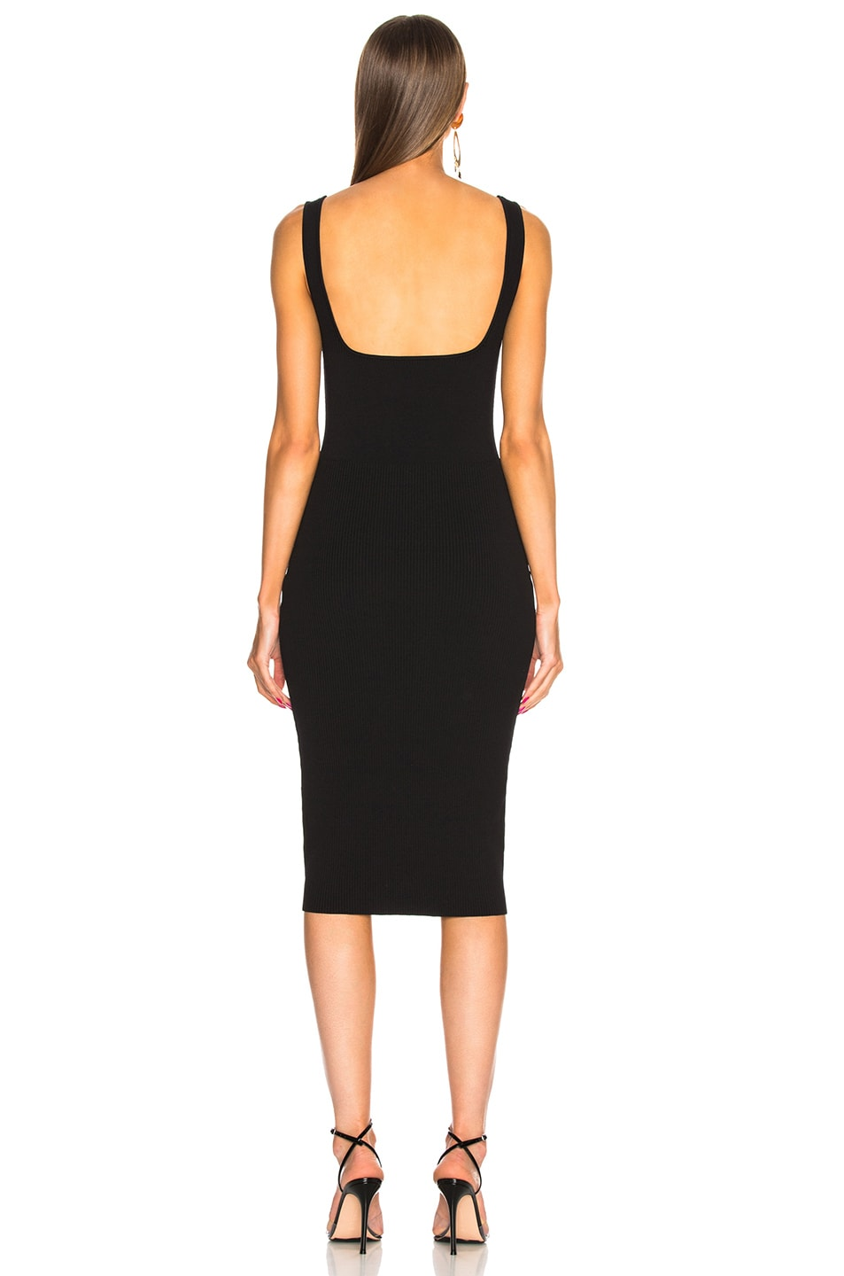 DION LEE Dresses DION LEE PINNACLE BUSTIER DRESS IN BLACK