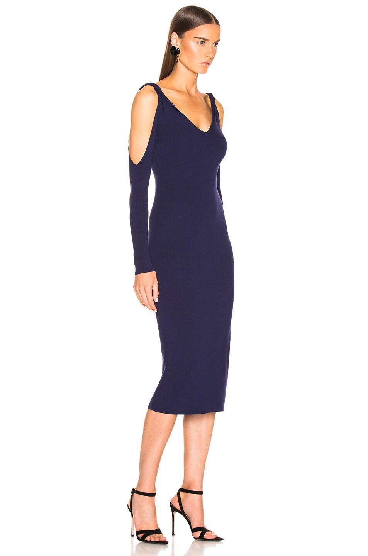 Image 2 of Dion Lee Twist Sleeve Dress in Ink